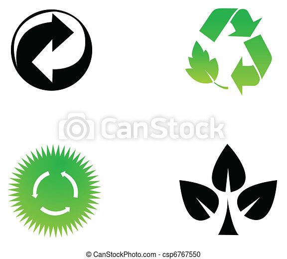 Environmental conservation symbols - csp6767550