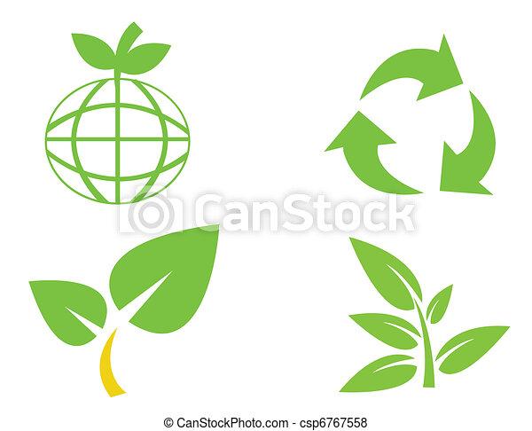 Environmental conservation symbols - csp6767558
