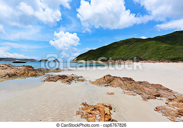 Sai Wan beach in Hong Kong - csp6767826