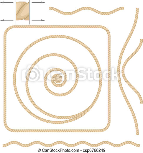 Abstract beige rope - csp6768249