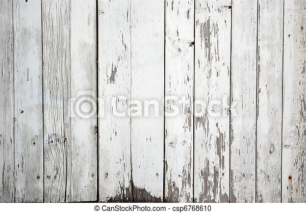 background of weathered white painted wood - csp6768610