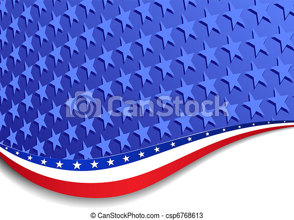 Stars and Stripes Landscape - csp6768613