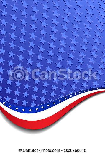 Stars & Stripes Portrait Background - csp6768618