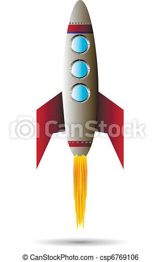 Starting red rocket - csp6769106