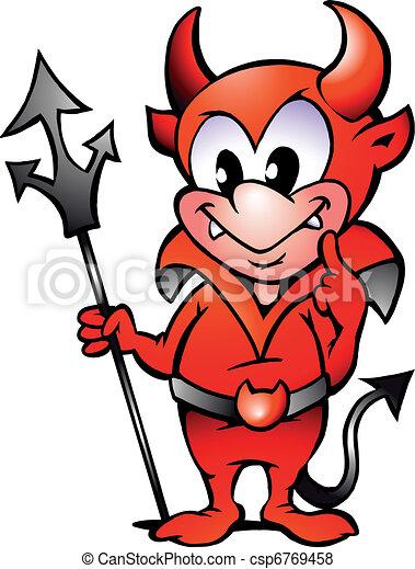 Little Red Devil Boy - csp6769458