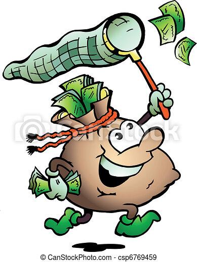 Money Sack Hunting Cash - csp6769459