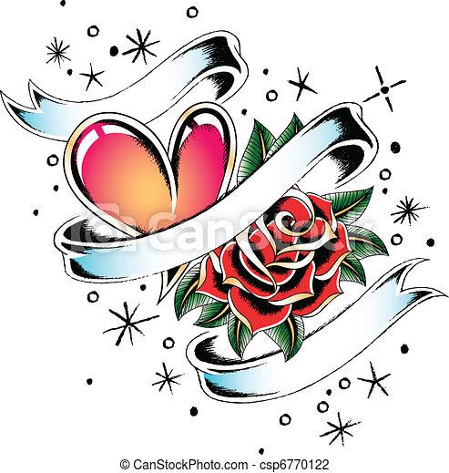 love ribbon emblem - csp6770122