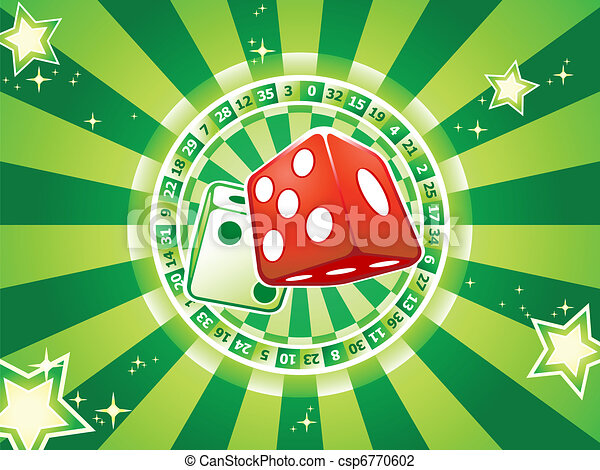 Dices casino background - csp6770602