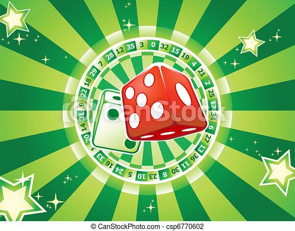Dices casino background - csp6770602