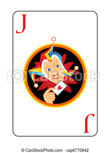 Joker playing card - csp6770642