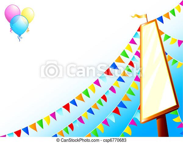 Amusement park sign - csp6770683