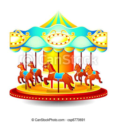 Merry-go-round - csp6770691
