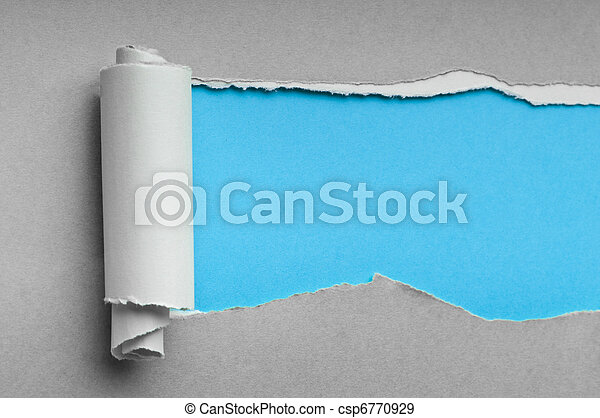 Torn paper with space for your message - csp6770929