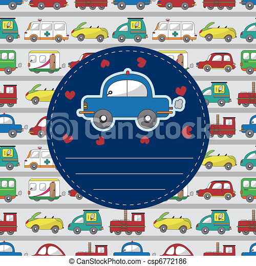 cartoon car card - csp6772186