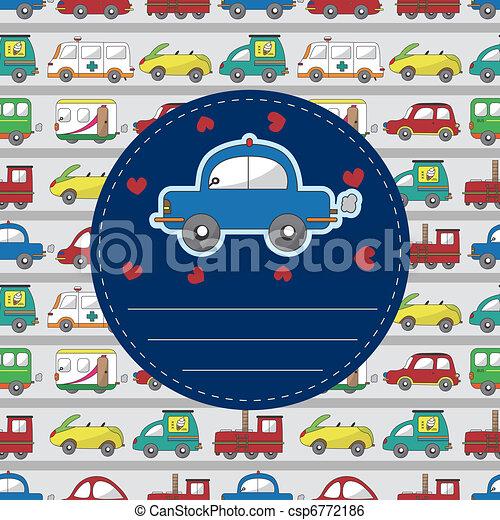 cartoon car card - csp6772186