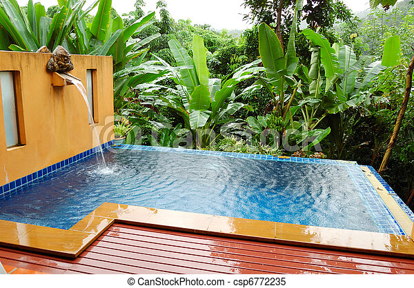 photo ext rieur jacuzzi luxe villa koh chang tha lande image images photo libre de. Black Bedroom Furniture Sets. Home Design Ideas