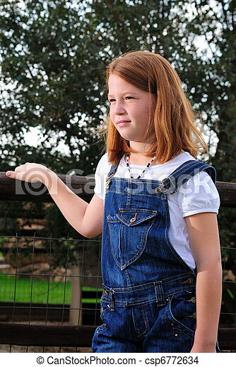 Stock Photo - Teen farm girl. Teen farm girl - csp6772634. Teen Farm Girl