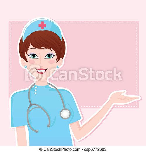 friendly nurse - csp6772683