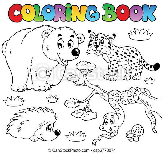 Coloring book with forest animals 3 - csp6773074