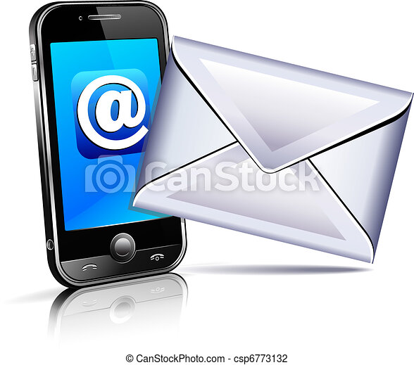 Send a letter icon, mobile phone 3D - csp6773132