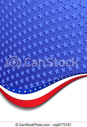 Stars & Stripes Portrait Background - csp6773161