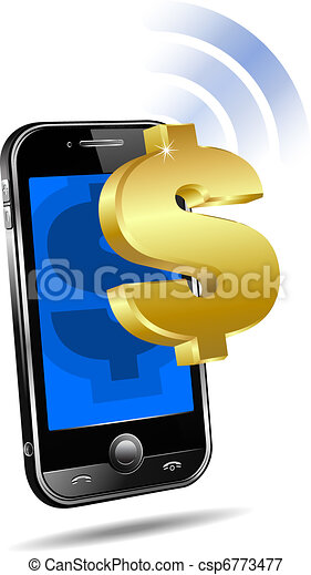 Pay by Mobile Cell Smart Phone  - csp6773477