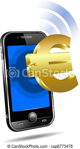 Pay by Mobile Cell Smart Phone Euro - csp6773478