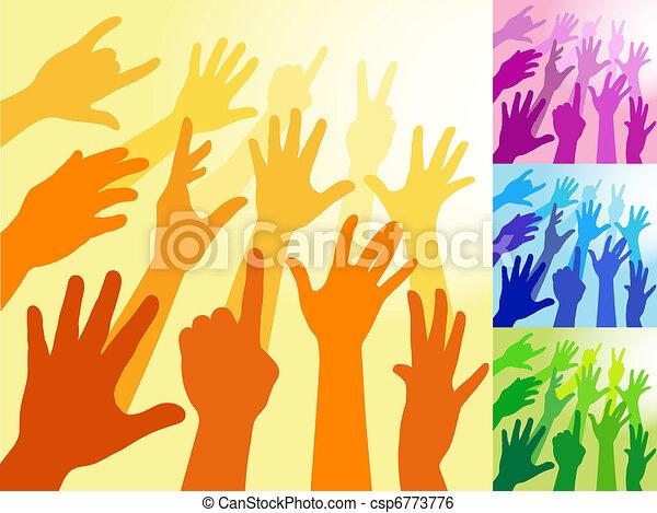 Raised Hands - csp6773776