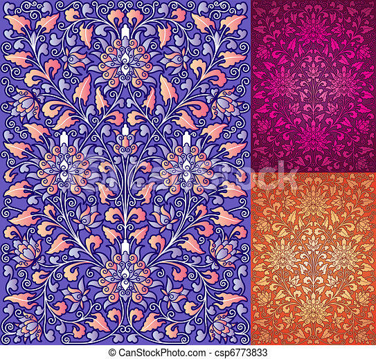 Chinese Traditional floral pattern - csp6773833
