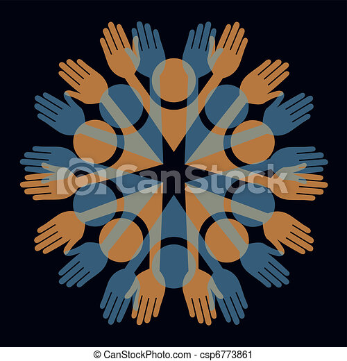 Colorful people vector.  - csp6773861