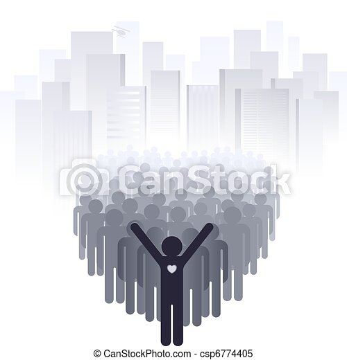 Love for the big city - csp6774405