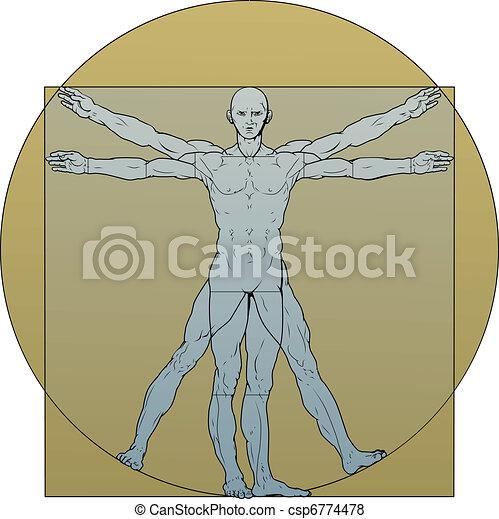 Vitruvian man - csp6774478