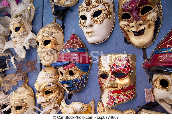 Masks in Venice in Italy - csp6774607
