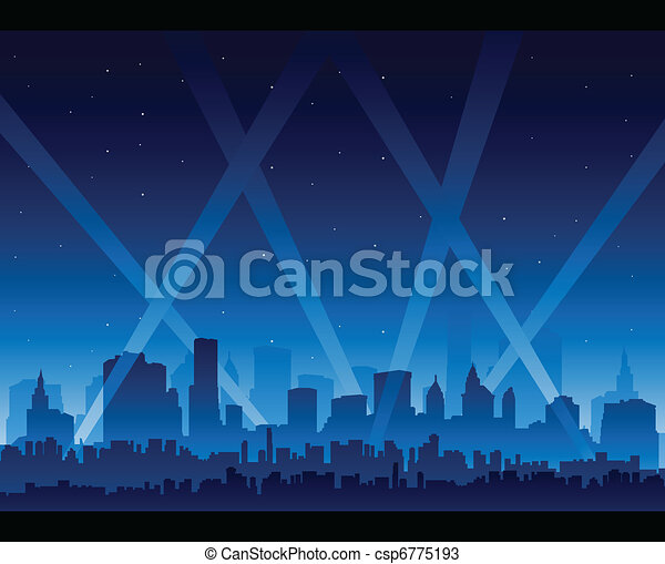 Pics For > Hollywood Searchlights Clipart