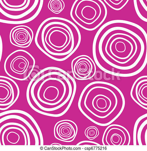 Seamless vector handdrawn purple circle texture - csp6775216