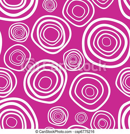 Seamless vector handdrawn purple circle texture - csp6775216