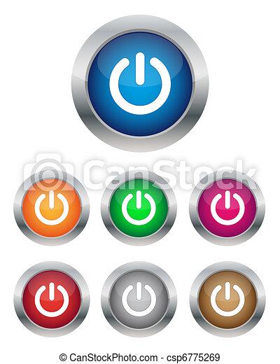 Power buttons - csp6775269