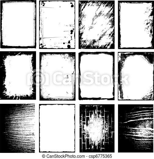 Grunge frames - csp6775365