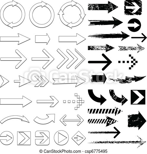 Grunge Line Drawings Vector Grunge Arrows