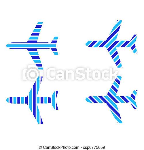 Logo, avions ligne - banque d'illustrations, illustrations libres de