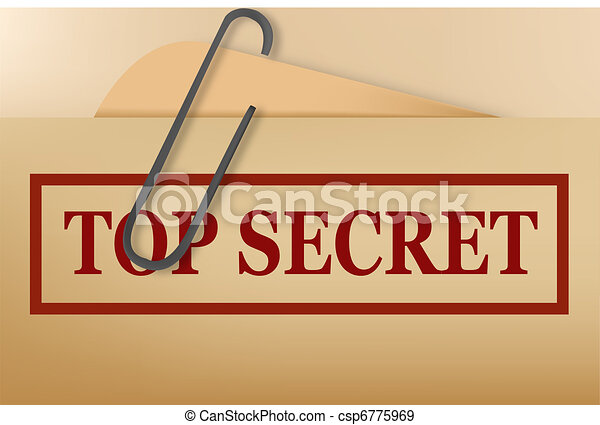 Top secret folder file with slight - csp6775969