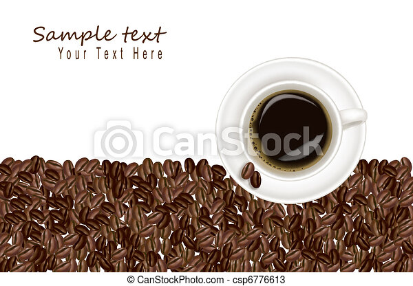 Design with cup of coffee  - csp6776613