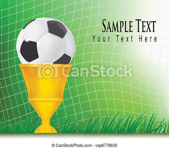 Football background with cup. - csp6776635