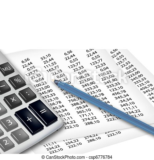 Calculator and office supplies. - csp6776784
