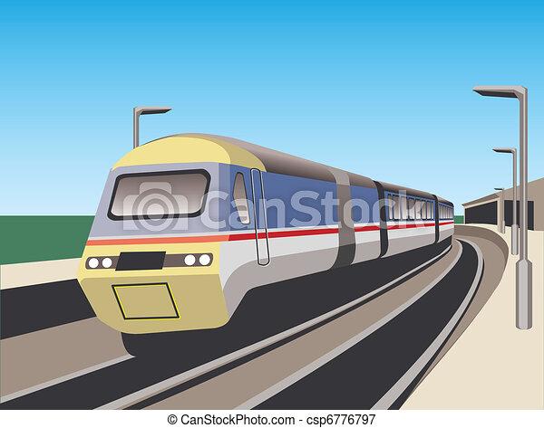 Train on station - csp6776797