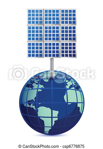 Earth and solar panels  - csp6776875