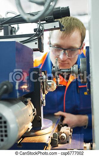 mehanician engineer at work - csp6777002
