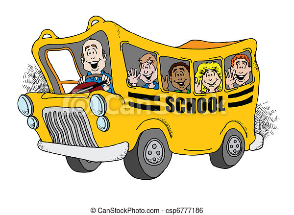 Back to School Bus - csp6777186