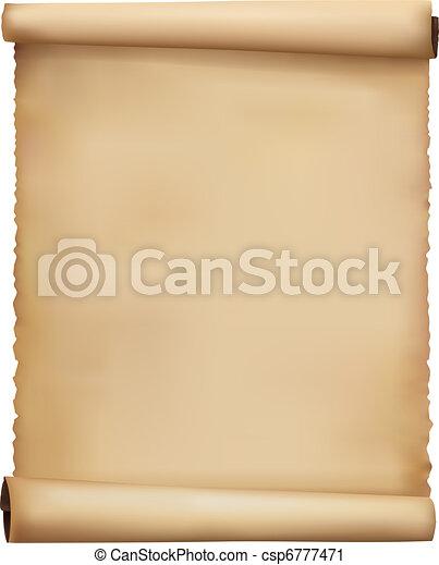 Old worn paper background. Vector. - csp6777471
