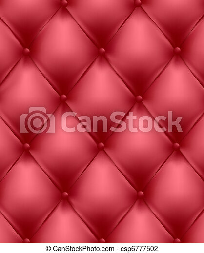 Red genuine leather upholstery.  - csp6777502